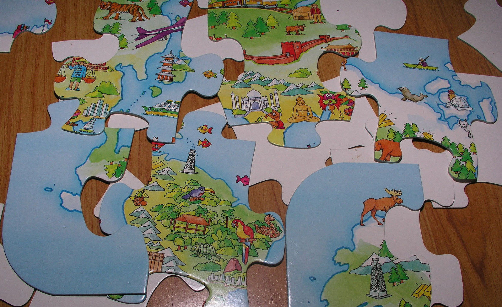 Floor puzzle easy kids fx schmid world map and similar items floor puzzle easy kids fx schmid world map 34x215 in large 36 piece educational gumiabroncs Choice Image