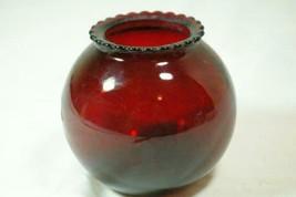 Anchor Hocking Royal Ruby Crimped Bulb Bud Vase - $4.15