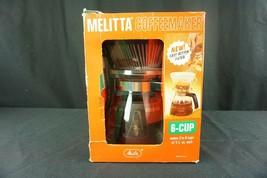 NEW Vintage Melitta Filter Drip Coffee Maker 6 Cup Model CM6-G1 Corning ... - $29.95