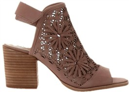 Vince Camuto Nubuck Stacked Heeled Sandals Kalison Heather Rose 5M NEW A... - $81.16