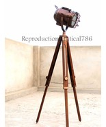 Copper Finish Studio Spot Lamp Light E 27 Bulb Vintage Floor Lamp W/ Tri... - $65.68