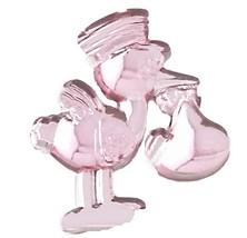 Stork w/Baby Acrylic Charm -Pink - $9.85