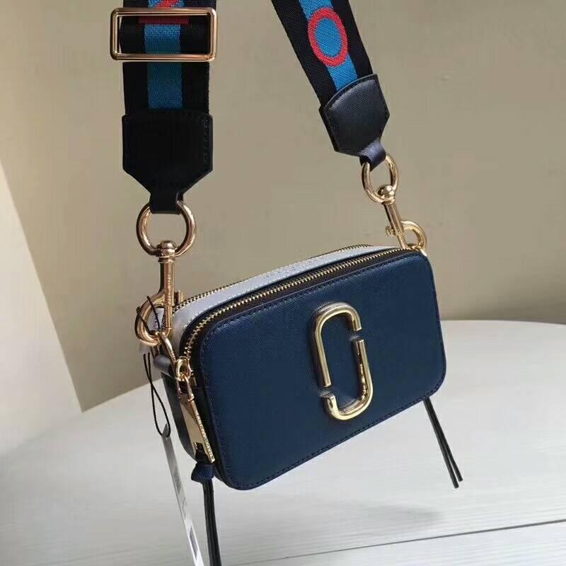6ee0b3a4074b Qq 20180608065723. Qq 20180608065723. Previous. Marc Jacobs Logo Strap  Snapshot Small Camera Bag Crossbody Bag Blue Sea Auth