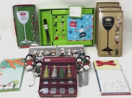 Huge Christmas Lot 3 Boxed Set of Christmas Spreaders & 4 Boxed Set Wine... - $31.49