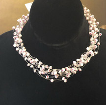 Mi Linea Pink Beaded Wire Multi-strand Necklace/Choker NWOT - $8.00