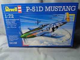 New Revell Plastic Model 1:72 P-51D Mustang WWII Airplane - $9.99