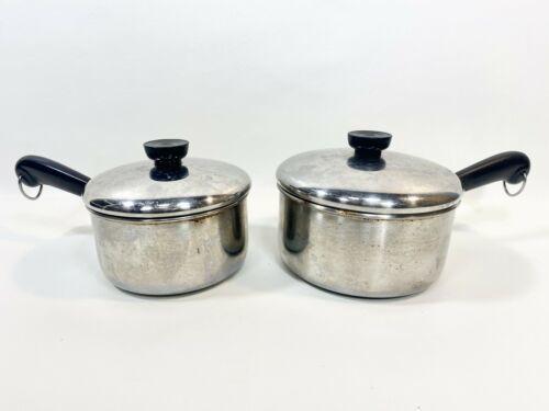 Revere Ware Aluminum Disk Saucepans w/Lids 1.5 & 2qt  - $44.54