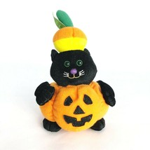 Halloween Plush Cat in Jack-o-Lantern Costume Stuffed Animal Toy  - $12.61