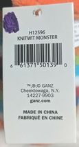 GANZ H12596 Orange One Eyed  KnitWit Monster Multi Colored 10 Inch 3 Plus age image 7