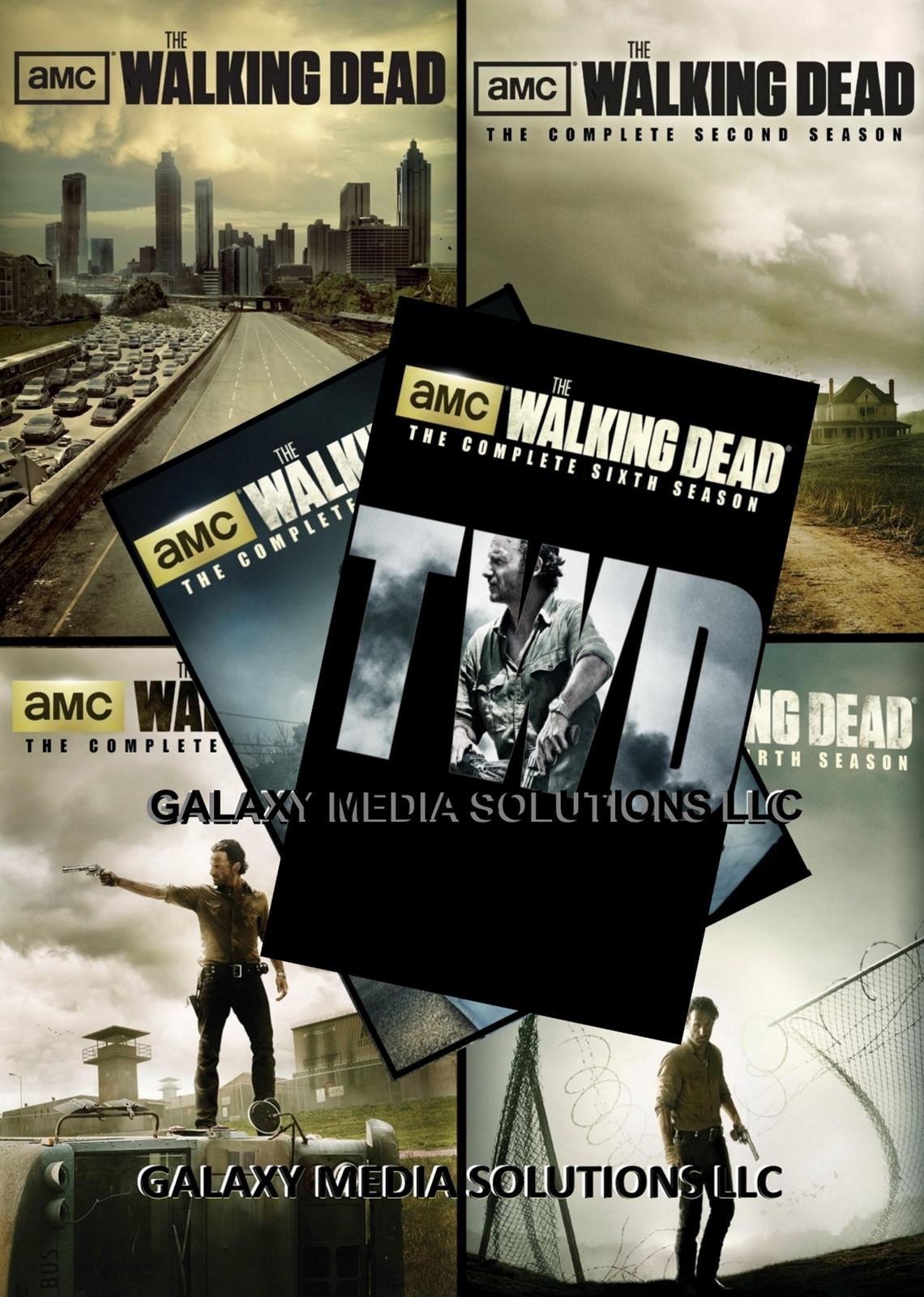 The walking dead complete season one six 1 6 dvd bundle  2016  26 disc new