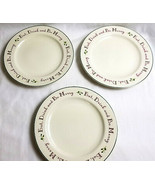 """3 Target Home Eat Drink & Be Merry Christmas Holly Dinner Plates 10.75"""" - $49.99"""