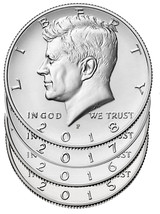 2015 - 2018 P 50C Kennedy Half Dollar 4 Coin Set - $29.65