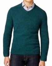 Tasso Elba Men's Green Pine Forest V-Neck Wool Knit Pullover Sweater - $806,28 MXN
