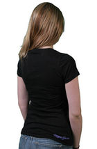 Rogue Status DTA Womens Girls Go AWOL Fade Black Purple Yellow Tee T-Shirt NWT image 3