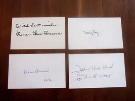 WALLY BERGER LEW FONSECA MACE BROWN FRANK HOWARD SIGNED AUTO VTG INDEX C... - $49.49