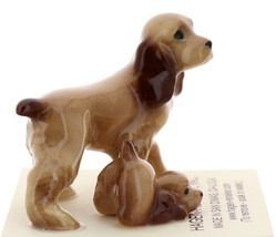 Hagen-Renaker Miniature Ceramic Dog Figurine Don Winton Cocker Papa and Pup image 4
