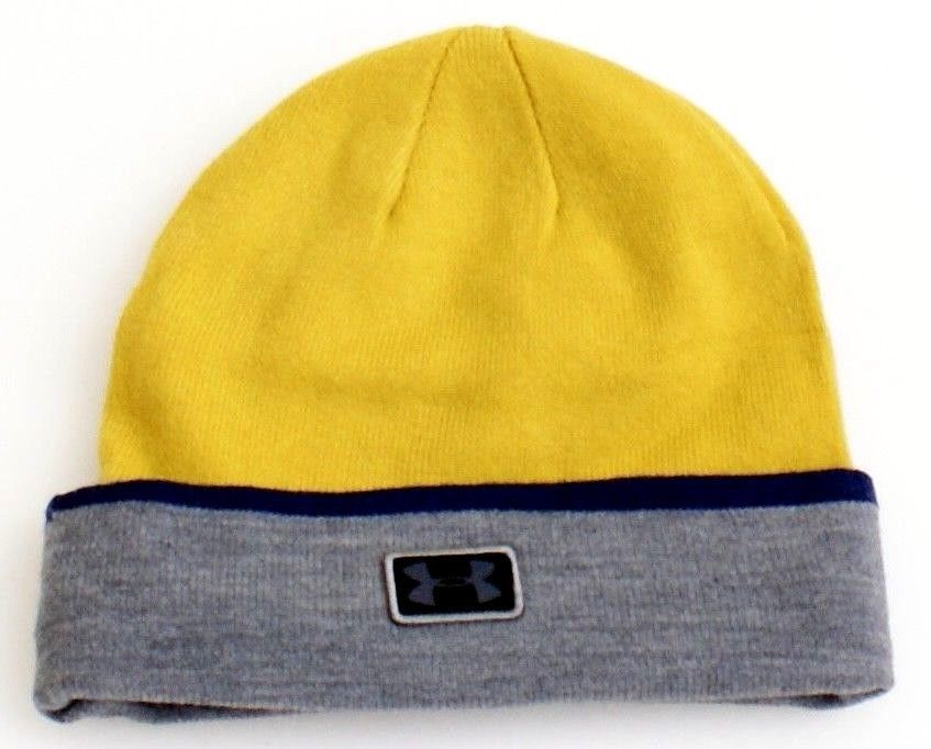 79242a91cde Under Armour Coldgear Infrared Notre Dame Gold Knit Cuff Beanie Men s One  Size