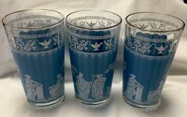 3 WEDGEWOOD GRECAIN HELLENIC 10 OUNCE TUMBLERS OR GLASSES - $9.49