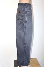 CARHARTT Men's 46 x 30 Gray 8 Pocket Carpenter Pants Jeans - $27.08
