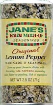 Jane's Krazy Original Lemon Pepper Marinade & Seasoning 2.5 oz (Pack of 2) - $19.79