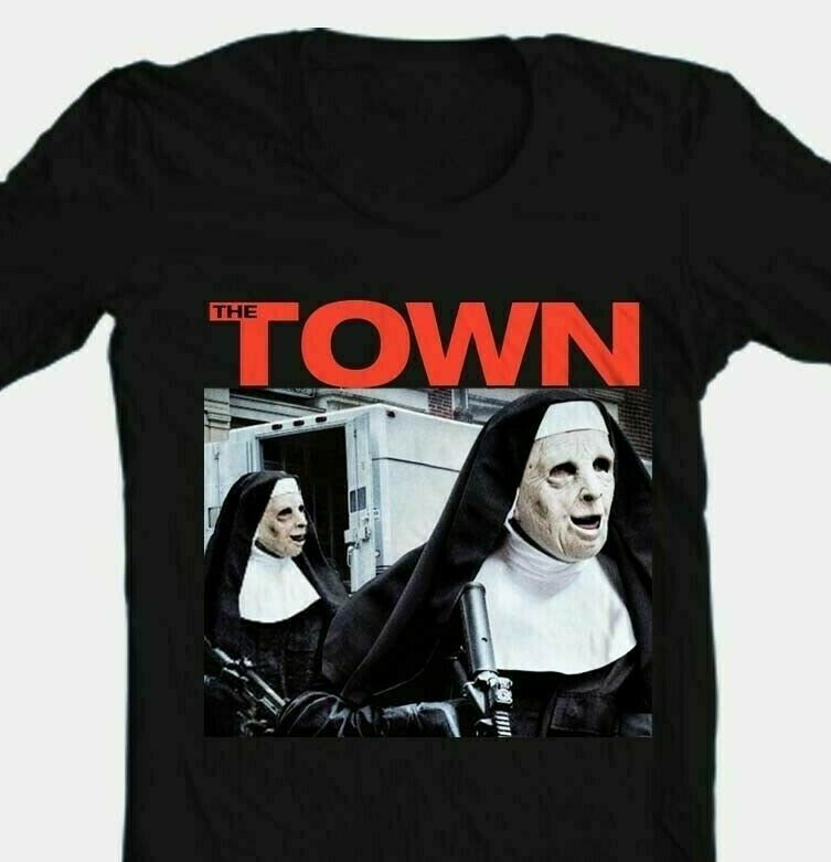 The Town T-shirt 90s movie film Boston Affleck 100% cotton graphic printed tee