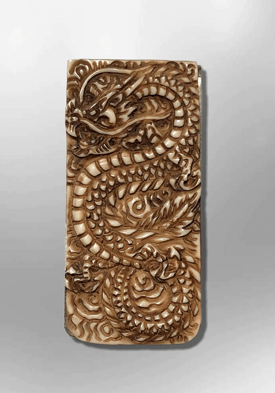 Bone dragon front money clip