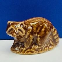Wade Figurine England whimsies whimsy animal miniature porcelain Raccoon... - $13.50
