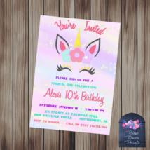 Unicorn Party Invitation - $10.00+