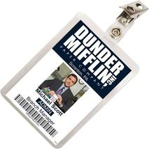 The Office Michael Scott Dunder Mifflin ID Badge Cosplay Costume Name Ta... - $9.42