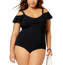 Profile by Gottex Plus Off The Shoulder Ruffle One Piece Swimsuit 18W NW... - $58.90