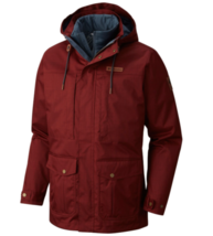 Columbia Mens Horizons Pine Interchange Jacket Removable Liner Warm Deep... - $179.95