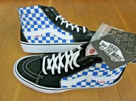 Vans Mens Sk8-Hi Pro Checkerboard Black Victoria Blue Skate Shoes Size 1... - $69.29