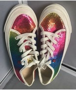 "UGG "" I Love UGG"" Fashion Glitter Lace Up Canvas Sneakers Size 3 - $39.55"