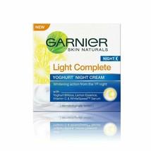 Garnier Skin Naturals Light Complete Night Cream, 40 gm - $13.09