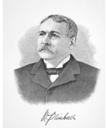 WILLIAM KIMBALL New York Tobacco Manufacturer - 1895 Portrait Antique Print - $9.45