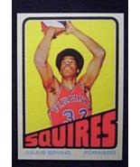 1972/73 Topps Basketball #195 Julius (Dr.J) Erving (RC) Reprint - £2.84 GBP