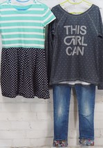 Gap Kids Outfit Set: Dress + GapFit This Girl Can T-Shirt + Bling Jeans ... - $44.55