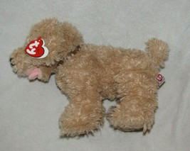 Ty Classic SKEETER Tan Shaggy Puppy Dog 14in Sitting Soft Plush '06 Brow... - $44.54