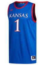 KANSAS JAYHAWKS BASKETBALL JERSEY ADULT 2XL- $80 RETAIL ADIDAS-NWT - $44.99