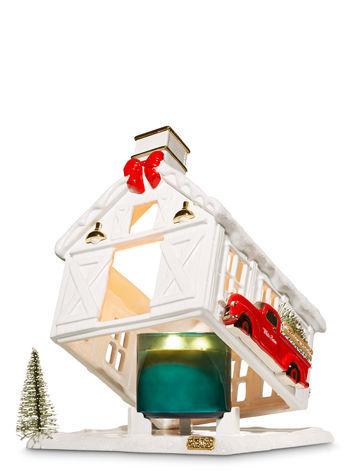 Bath & Body Works WHITE BARN HOUSE LUMINARY 3-Wick Candle Holder