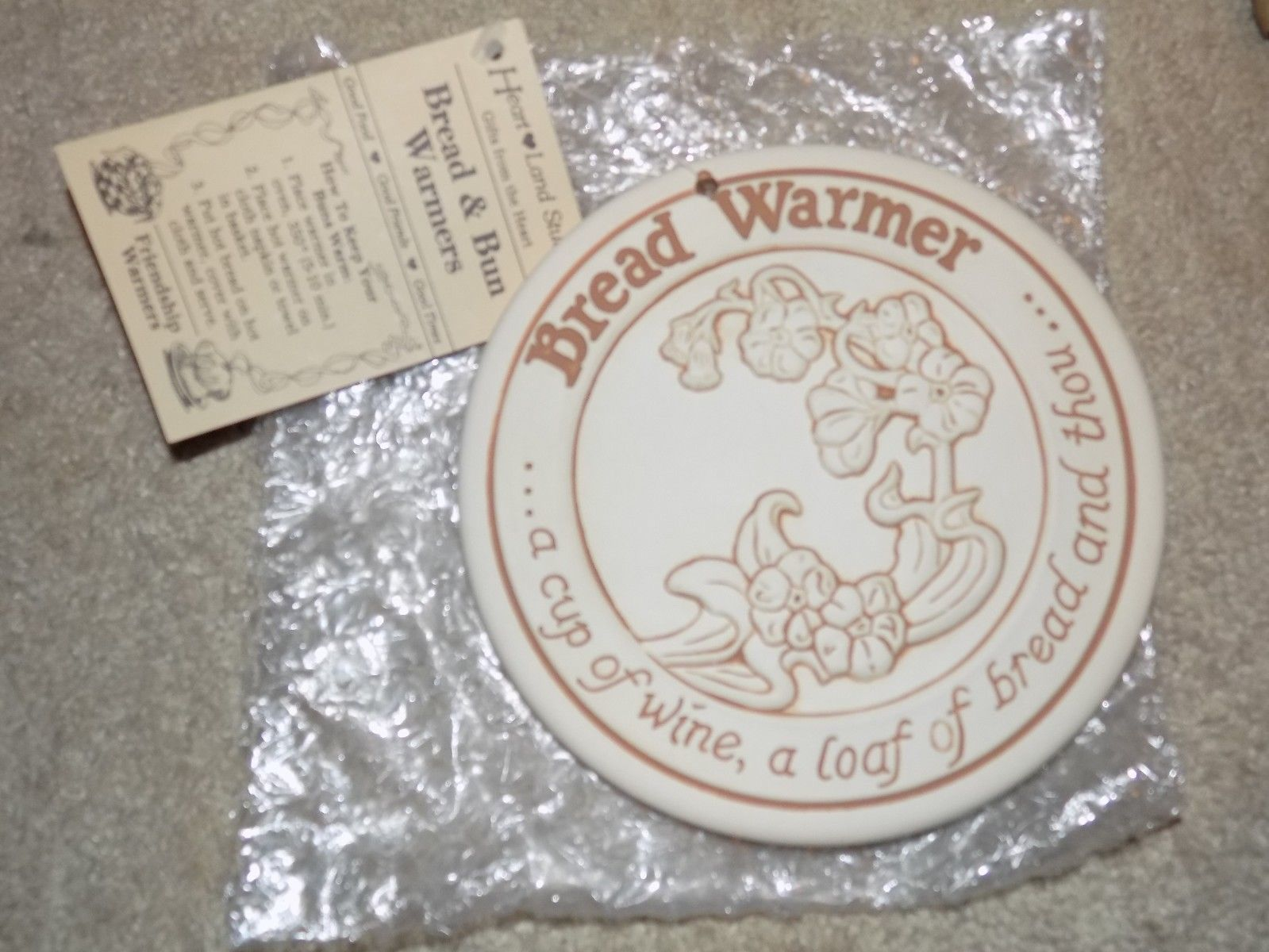 Primary image for Heart Land Studios Bread and & Bun Warmer 1990 Heart Land Studios NEW