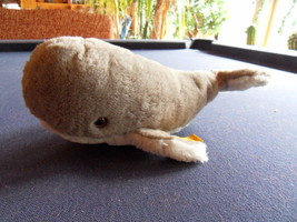 Steiff whale with button flag stuffed animal  made in  Germany 1053 - $43.69