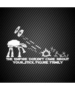 car00228| Decal  Star wars The empire doesnt care about your stick figure - $3.25+