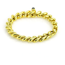Chiampesan 18k Yellow Gold Women's Bracelet with Ruby Clasp Medium - $2,470.05