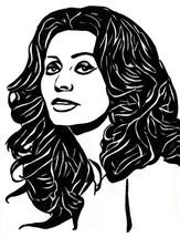 Sophia Loren Woman abstract ink original art drawing portrait black & white - $25.00