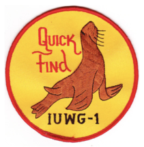 """4"""" NAVY IUWG-1 INSHORE UNDERSEA QUICK FIND EMBROIDERED PATCH - $23.74"""