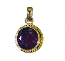 grand Indian Ruby Gold Plated Red Pendant Fashion general US - $5.63