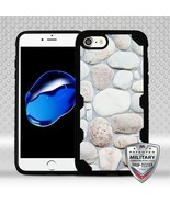 For APPLE iPhone 8/7 Rocky Pebbles/Black FreeStyle Challenger Hybrid Cas... - $13.39