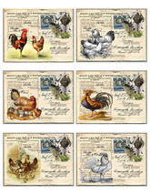 Chickens-Roosters-Gift Tags-Printable Images-Digital Download-Printable ... - $4.25