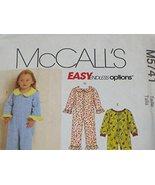 McCalls M5741 Size CB Child Pajamas - $9.85